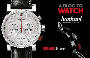 Hanhart PRIMUS Racer Silver Steel Automatic Chronograph Watch
