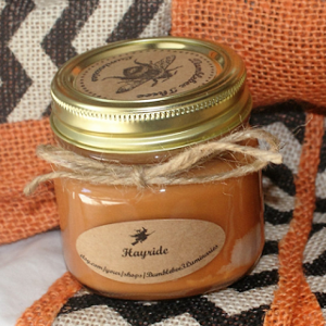 hayride scented jar candle