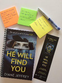 He Will Find You notebook, bookmark, pen and post-its from Diane Jeffrey
