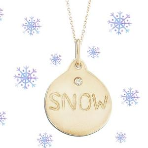 "Helen Ficalora 14K ""Snow"" Necklace with Diamond Giveaway!"