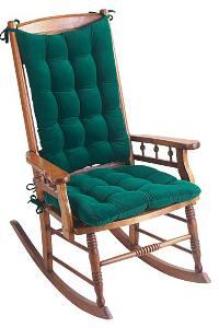hunter green corduroy rocking chair cushions
