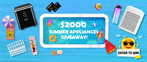 Instantly spin to Win $2000 Summer Home Appliances and Amazon Gift Cards