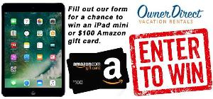 iPad Mini 2 or 1 of 2 $100 Amazon Gift Cards
