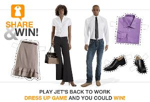 """Jet's back to work dress up game competition"""