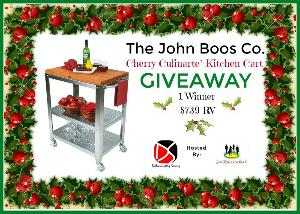 John Boos Co. Cherry Culinarte' Kitchen Cart giveaway image