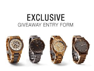 JORD Watches $100 USD Voucher Giveaway with $25 Vouchers to all who enter