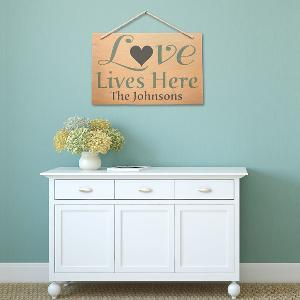 "Jumbo ""Love Lives Here"" Home Decor Stencil Set"