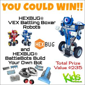 KIDS TRIBUTE HEXBUG BATTLE ROBOTS & BUILD BOT PRIZE PACK CONTEST""