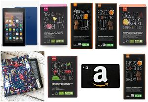 Kindle Fire 7, Amazon Gift Card, Tea, Chocolate and Kindle Cover Giveaway