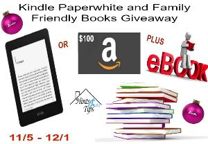 Kindle Paperwhite (or $100 Amazon GC) & 15 Books Giveaway