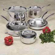 KitchenAid Stainless-Steel Cookware Set