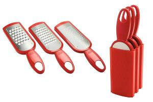 Kuhn Rikon Swiss Grater Set with Storage Caddy