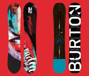 Lady's + Men's Burton Snowboard
