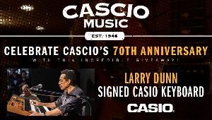 Larry Dunn signed Casio Keyboard