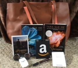 Leather Tote Bag + $25 Amazon Gift Card, Books & Swag