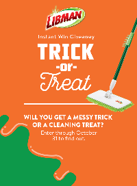 Libman 2017 Trick or Treat Instant Giveaway