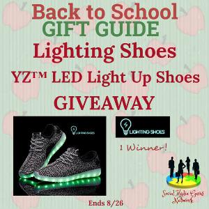 Lighting Shoes ~ YZ™ LED Light Up Shoes Giveaway