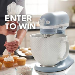 Limited Edition KitchenAid® Heritage Artisan® Misty Blue Stand Mixer!""