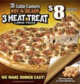 Little Caesars HOT-N-READY 3 MEAT TREAT Pizza