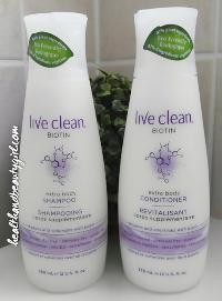 Live clean shampoo and conditioner