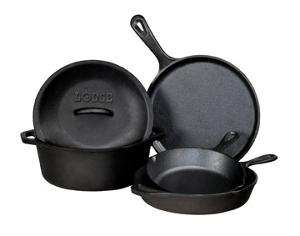 Lodge 5-Piece Cast Iron Cookware Set (ARV $131)
