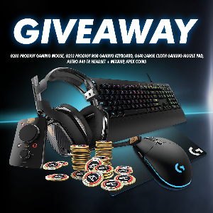 Logitech Gaming Peripherals, ASTRO A40 TR Edition Headset + Mixamp, & Apex Coins