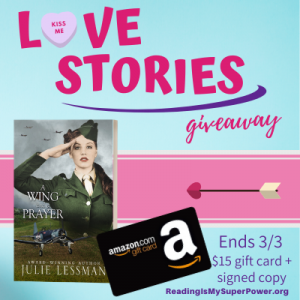 Love Stories GIVEAWAY: $15 Amazon gift card & a signed copy of winner's choice of any (1) book by Julie Lessman or the entire Isle of Hope series in ebook!  gift card & ebook set are open internationally; signed copy is open to US only.