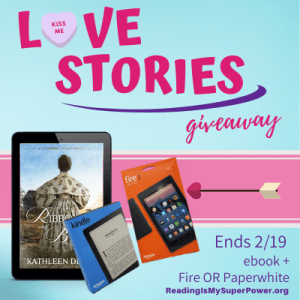 Love Stories GIVEAWAY: Ribbons & Beaus + winner's choice between a Kindle Fire 7 OR a Kindle Paperwhite
