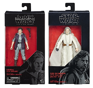 Luke Skywalker & General Leia Organa Star Wars Episode 8 – Black Series 6-inch figures