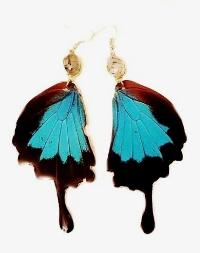 Luxurious Spa Real Butterfly Wing Earrings ($60)