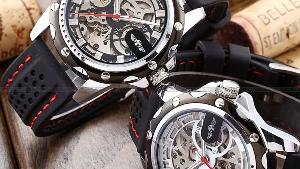 Luxury Mechanical Automatic Skeleton Military Watch
