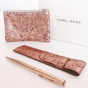 Luxury travel accessories set by Isabell Wong