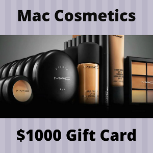Mac Cosmetics $1000 Gift Card