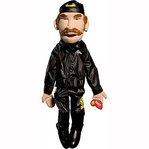 Male Biker Puppet in Leather