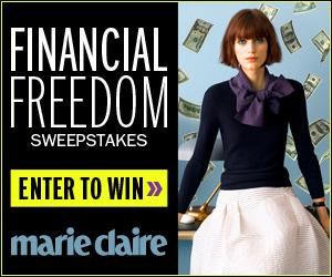 Marie Claire Financial Freedom Sweepstakes