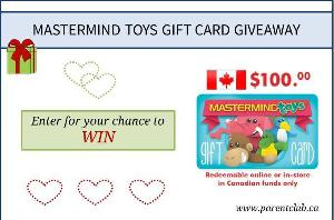 Mastermind Toys $100 Gift Card Giveaway