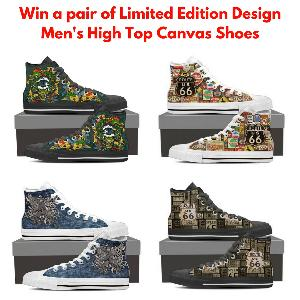 Men's High Top Canvas Shoes Giveaway