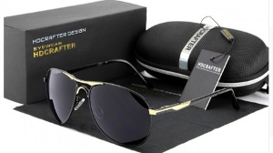 Men's Polarized Aviator Sunglasses ($120)