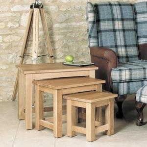 Mobel Oak Nest of 3 Coffee tables Giveaway!