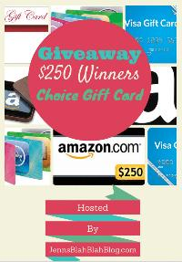 Monthly $250 Gift Card Giveaway Nov-Dec