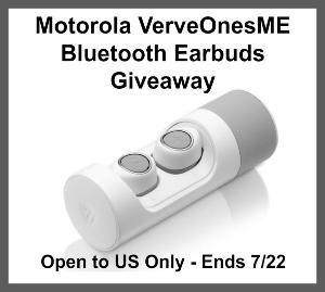 Motorola VerveOnesME Bluetooth Earbuds Giveaway