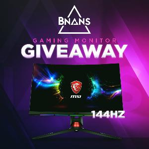 MSI 144Hz Curved Gaming Monitor Giveaway