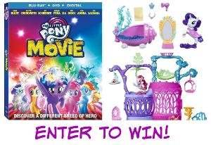 My Little Pony: The Movie Prize Pack including My Little Pony: The Movie (Blu-ray + DVD + Digital), Rarity Undersea Spa and Seashell Lagoon Playset (ARV $93.97)