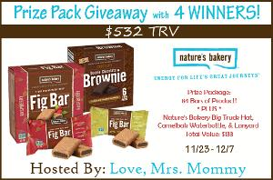 Nature's Bakery Prize Pack Giveaway