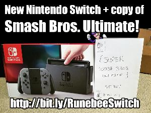 Nintendo Switch with Smash Bros Ultimate