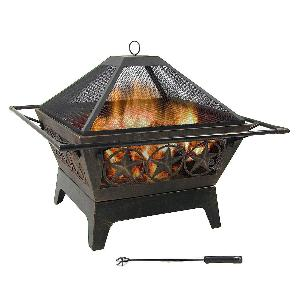 Northern Galaxy Square Wood-Burning Fire Pit