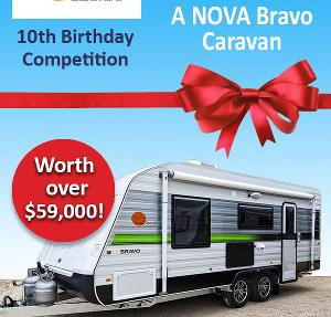 NOVA Bravo Caravan Giveaway worth $59,990.00 AUD! - *Australia Residents Only
