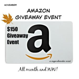 November $150 Amazon Giveaway Event!