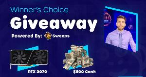 NVIDIA GeForce RTX 3070 or $500 Cash Giveaway