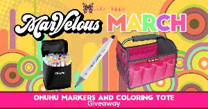 Ohuhu Markers and Coloring Tote